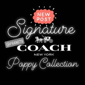 😎🖤COACH SIGNATURE POPPY BAG🖤😎